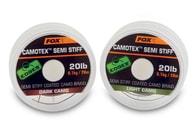 Fox Ztužená šňůrka Edges Camotex Semi Stiff 20m - Dark Camo 25lb