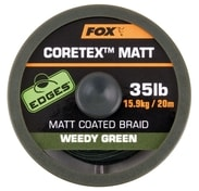 Fox Ztužená šňůrka Edges Coretex Matt 20m - Weedy Green 20lb
