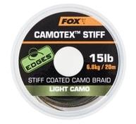 Fox Ztužená šňůrka Camotex Stiff 20m - Light Camo 25lb