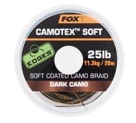 Fox Ztužená šňůrka Camotex Soft 20m - Dark camo 20lb