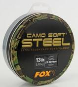 Fox Vlasec Camo Soft Steel 1000m - Dark Camo 0.30mm 13lb/5.9kg