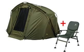 Giants Fishing Bivak CLX Bivvy + Giants Fishing Sedačka Specialist Chair Akce!